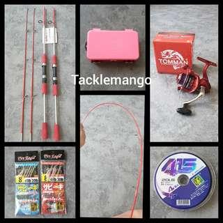 APRIL PROMO BN FISHING ROD SET WITH ACCESSORIES