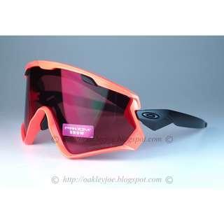 d3265dc003000 Oakley Wind Jacket neon orange red + prizm snow torch iridium OO7072-05  sunglass shades
