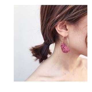 Earrings Hoop Flowers 🌸