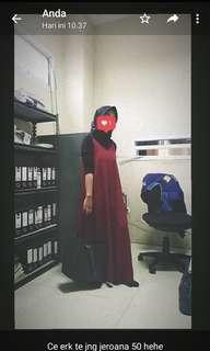 Dress maroon +iner