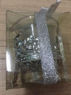 Door gift / Wedding Gift Silver Glass Candle Holder