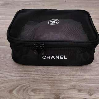 Chanel authentic makeup pouch vip gift counter