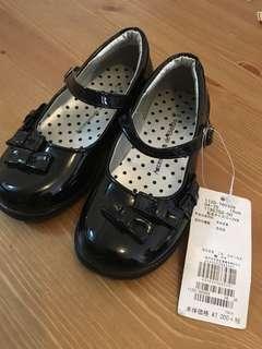 全新16cm黑皮鞋1700yen