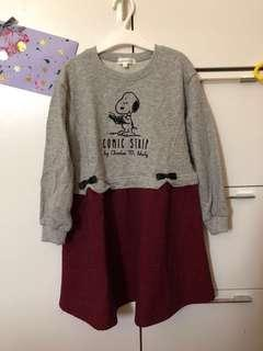 全新🆕 日本3Can4on snoopy連身裙