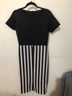 Mididress stripes
