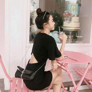 Skirt fairy backless dresd