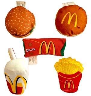 🚚 火力全開888 麥當勞 可樂 漢堡 薯條 玩偶 絨毛娃娃 擺飾 鑰匙圈 可愛造型 吊飾玩偶 每一個$49