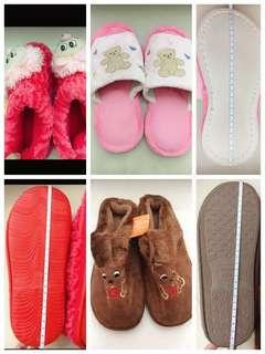 Women man winter warmer shoes and teddy bear bathrooms shoes