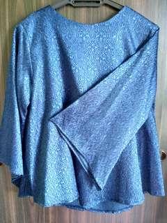 Dark Blue Shimmer Women Blouse Top #SnapEndGame