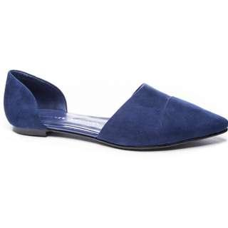 🚚 Chinese Laundry D'orsay Flats Bright Navy Suede US10 New in box