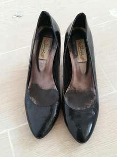 shoe girl 黑色 人手造  2吋 高跟鞋 high-heels