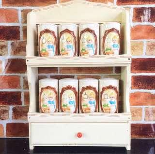 Spice rack and spices jar sears and roebucks