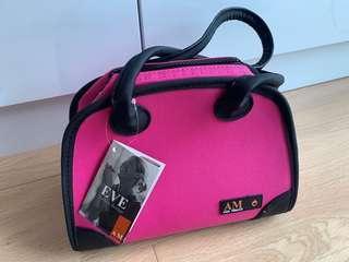 意大利牌子 Aldo Mistrail 粉紅色 飯盒袋 保溫袋 保暖袋 保冷袋