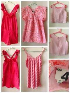 Girl romper jumpsuit TOP blouse pink cotton on