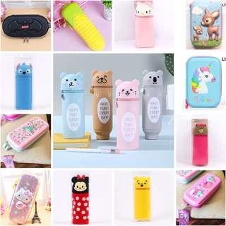 [Ready Stock] Cylinder Pencil Case/ Hello Kitty Pencil Case/ Disney pencil case/ Stitch/ Pooh