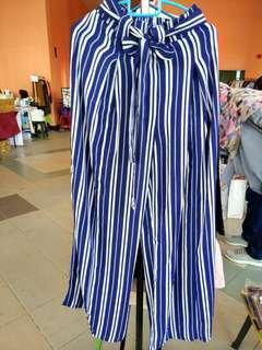 Tucz stripes wide pants