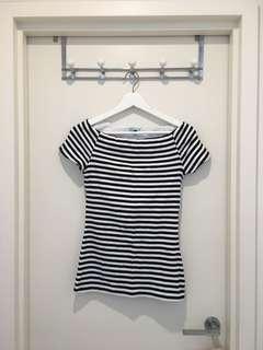 Kookai striped top size 2