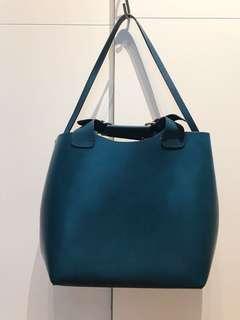 Zara Woman Large Buffalo Leather Bag