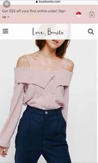 Love Bonito Gylne off shoulder top