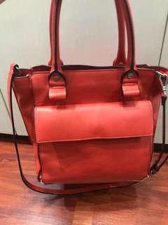 Zara red bag