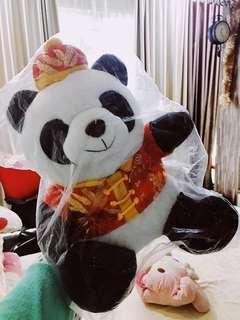 Boneka Panda Bank of China ASLI