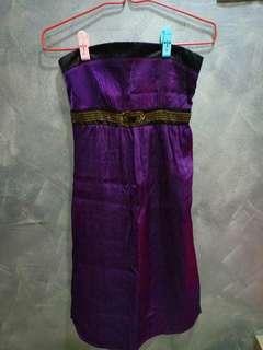 Purple dinner dress