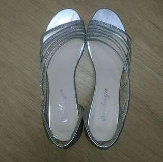 銀色涼鞋新娘鞋伴娘鞋