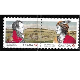 🚚 CANADA 2012 THE WAR OF 1812 MNH STAMPS