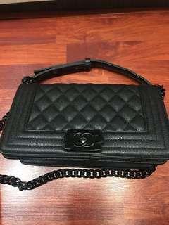 Chanel Boy all black replica