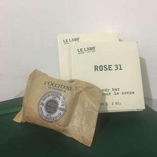 Le Labo & L'Occitane mini soaps