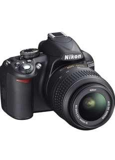 NIKON D3100 (camera, lens, charger + memory card)