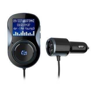 Car Bluetooth Car Kit MP3 Audio Player FM Transmitter Hands-free w/ Mic USB Car