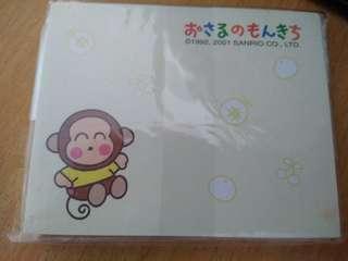 Sanrio monkichi馬騮仔2001年便條紙