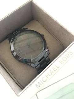 REPRICED! Michael Kors black stainless steel watch