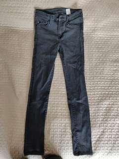 H&M denim black skinny regular waist