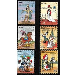 🚚 BEQUIA DISNEY MICKEY MNH STAMPS
