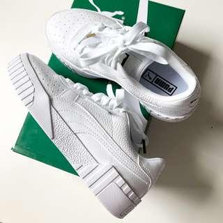 New in box PUMA Cali women's crisp white sneakers shoes 36 US 6