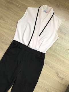 Jumpsuit Black n White