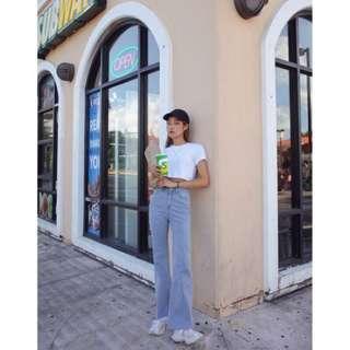🌼韓國代購🌼BLACKUP 修身 單寧 高腰喇叭牛仔褲