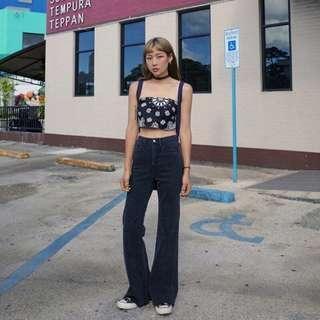 🌼韓國代購🌼BLACKUP 90年代 高腰 修身直筒褲 喇叭褲 直筒喇叭 牛仔褲