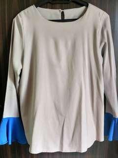 Colourcycle Grey Long Sleeve Blouse Top #SnapEndGame