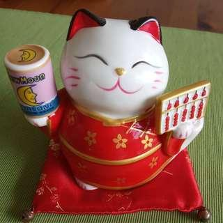 🚚 New Moon Fortune Cat Coin Bank