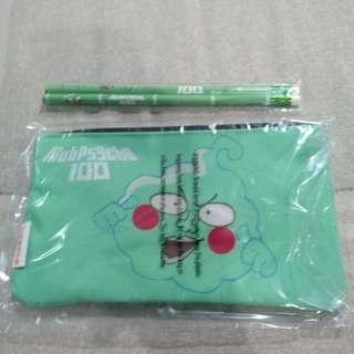Legit Brand New Sealed Mattel MobPsycho 100 2 Pencils + Pencil Case Set