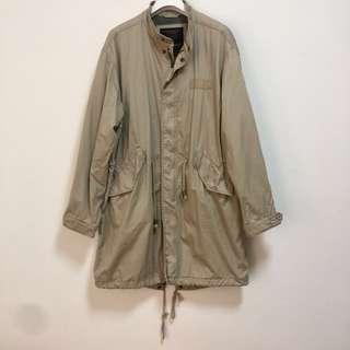 韓國國民品牌SPAO德軍長版卡其外套