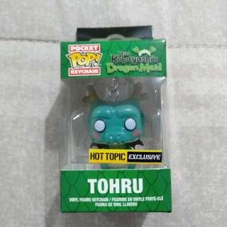 Legit Brand New With Box Funko Pocket Miss Kobayashi Dragon Maid Tohru Keychain Hot Topic Exclusive