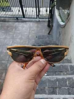 Charme Gold Ladies Sunglasses Italy Cat Eye AUTHENTIC Hectic
