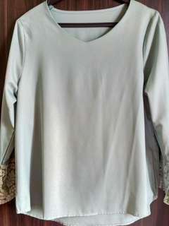 Colourcycle Turquoise Green Long Sleeve Blouse Top #SnapEndGame