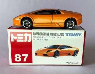 Tomica 87 Lamborghini Murcielago 橙色 最後一架