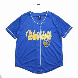 NBA Golden State Warriors Blue Baseball Jersey