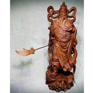 實心關公雕刻擺設 GuanYu Sculpture